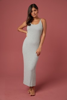 Grey Invisible Support Modal Rib Dress