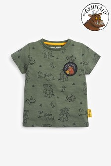 Khaki Gruffalo All Over Print Short Sleeve T-Shirt (3mths-8yrs)