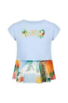 Guess Girls Blue Cotton T-Shirt