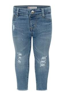Baby Girls Light Blue Cotton Super Skinny Jeans