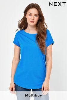 Cobalt Blue Cap Sleeve T-Shirt