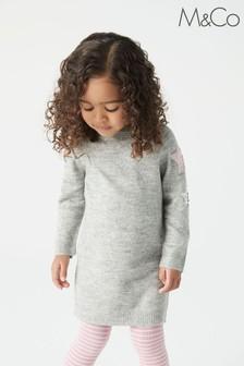 M&Co Grey Sequin Jumper Dress
