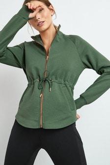 Khaki Zip Through Jacket