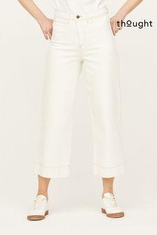Thought Ecru Organic Cotton Culottes