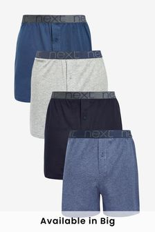 Blue Loose Fit Pure Cotton Four Pack