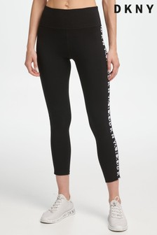 DKNY Black Two Tone Essential Logo Leggings