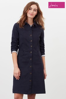 Joules Blue Wilmer Denim Dress