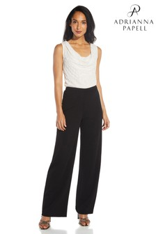 Adrianna Papell Black Pearl Crepe Trousers