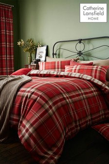 Kelso Check Easy Care Duvet Cover and Pillowcase Set by Catherine Lansfield