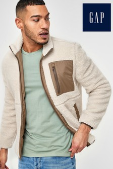 Gap White Reversible Fleece Jacket