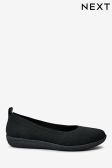 Black Flyknit Forever Comfort® With Motion Flex EVA Ballerina Shoes