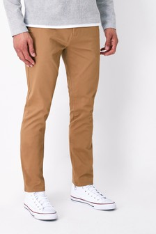 Sand Slim Fit Stretch Chinos