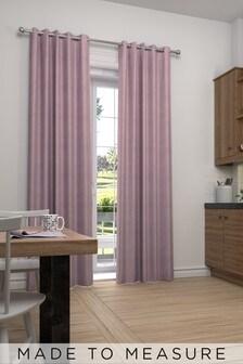Cotton Mauve Purple Made To Measure Curtains