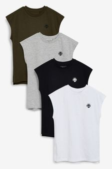 Monochrome 4 Pack Tank Tops (3-16yrs)