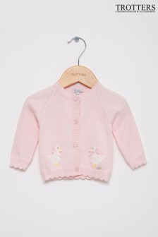 Trotters London Pink Isabella Cardigan