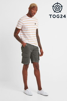 Tog 24 Grey Albury Mens Heavyweight Cargo Shorts