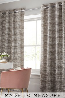 Textured Natural Made To Measure Curtains