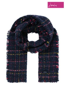 Joules Blue Karrie Boucle Scarf