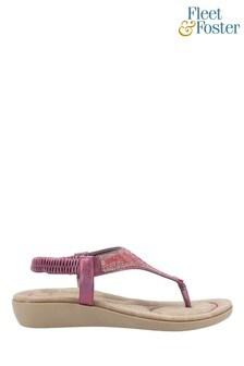 Fleet & Foster Red Lianne Slip-On Sandals