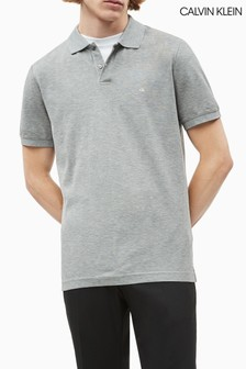 Calvin Klein Grey Refined Pique Slim Polo