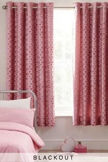 Velvet Heart Eyelet Blackout Curtains
