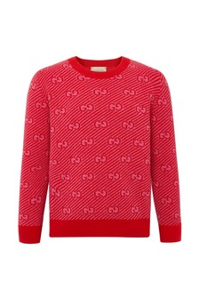 Boys Red Wool Jumper