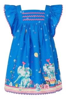 Monsoon Blue S.E.W. Baby Animal Border Dress