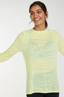 Lime Long Sleeve Sports Top