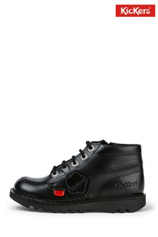 Kickers Infants Kick Hi Zip Leather Shoes