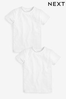 White 2 Pack Short Sleeve T-Shirts (3-16yrs)
