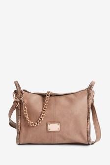 Camel Chain Detail Across-Body Bag
