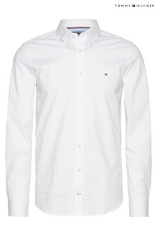 Tommy Hilfiger White Core Stretch Slim Poplin Shirt