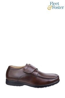 Fleet & Foster Brown Fred Dual Fit Moccasins