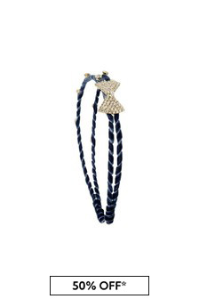 Girls Navy Diamanté Headband