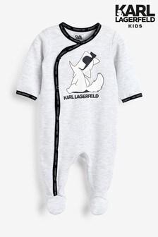 Karl Lagerfeld Kids Grey Sleepsuit