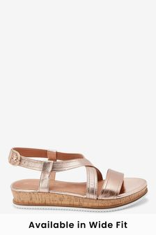 Rose Gold Regular/Wide Fit Forever Comfort® Flatform Sandals