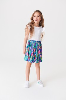 Multi Tropical Hawaiian Print Dress (3-12yrs)