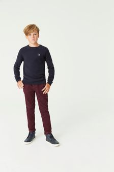 Plum Slim Fit Stretch Chino Trousers (3-16yrs)