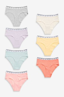 Sorbet Short Cotton Rich Logo Knickers 7 Pack
