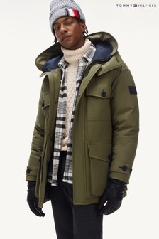 Tommy Hilfiger Green Heavy Canvas Parka
