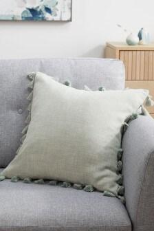 Sage Green Tassel Edge Cushion