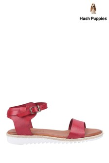 Hush Puppies Red Gina Flat Sandals
