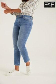 F&F Midwash Authentic Slim Jeans