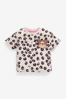 Pink Animal Print Organic Cotton T-Shirt (3mths-7yrs)