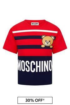 Moschino Boys Red Cotton T-Shirt