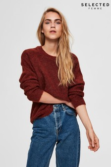 Selected Femme Lulu Supersoft Crew Neck Jumper