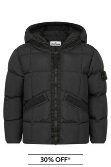 Stone Island Junior Boys Black Padded Jacket