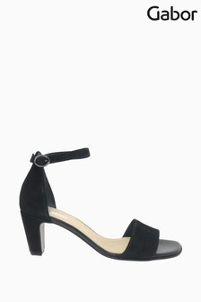 Gabor Black Unicorn Suede Sandals