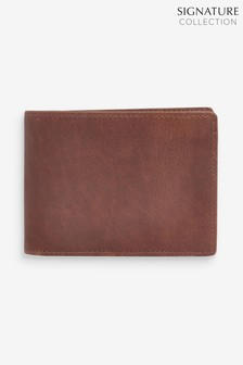 Tan Signature Oiled Leather Bifold Wallet
