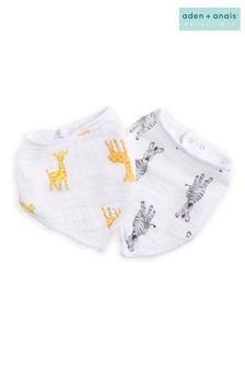 aden + anais Essentials White Bandana Bibs Two Pack